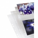 Photo sleeves for ring-binder albums A4, Clear, 13 x 18 cm