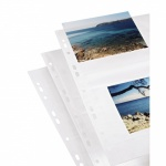 Photo sleeves for ring-binder albums A4, White, 10 x 15 cm
